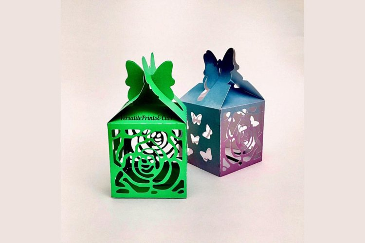 Butterfly top box template - gift box, treat box, favor box