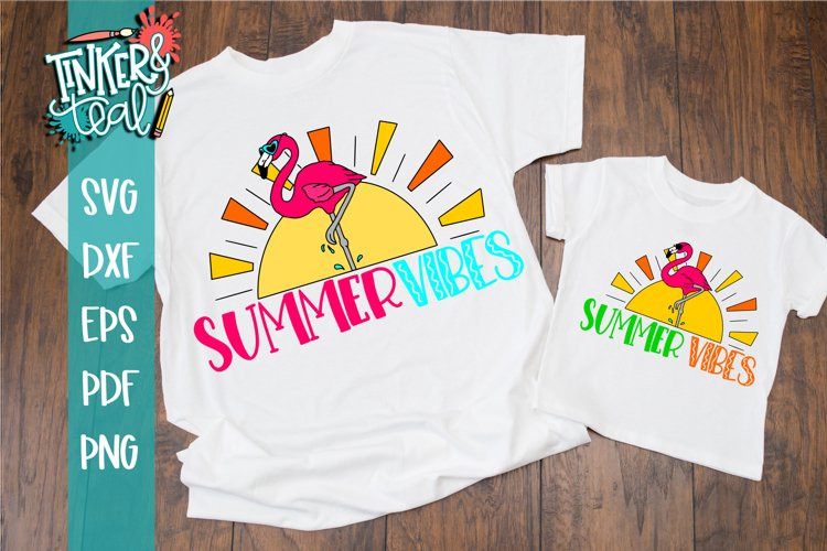 Summer Vibes Flamingo SVG