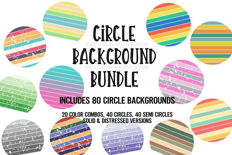 Circle Backsplash Frames Bundle for Sublimation - 80 PNG Des