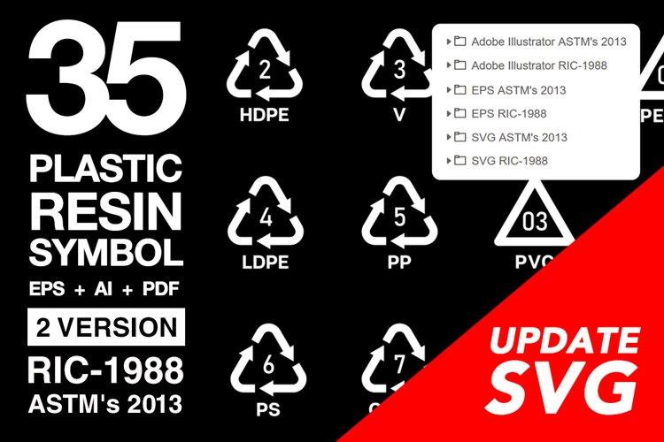 35 Plastics Resin Symbol Icon SVG AI EPS example image 1