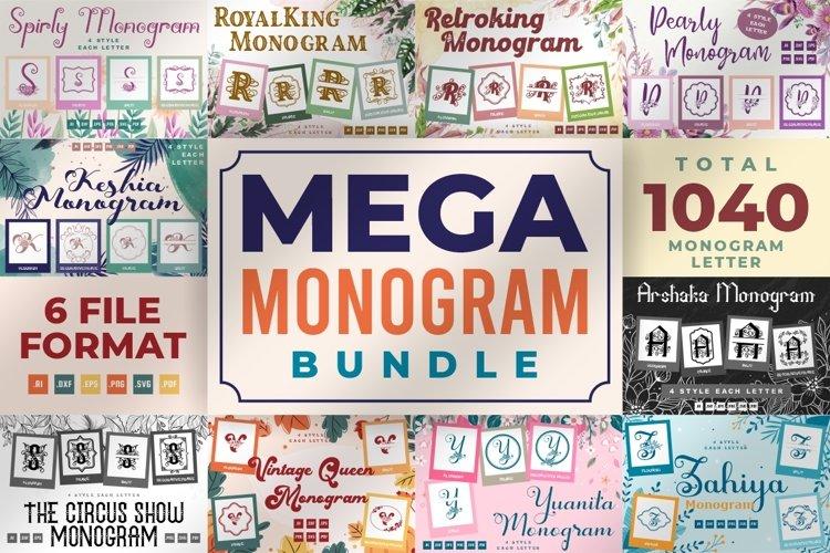 Mega Monogram Bundle - 1040 Total Monogram Letter example image 1