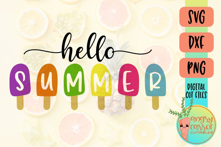 Hello Summer SVG, Popsicles SVG, Sign Shirt Tote Pillow