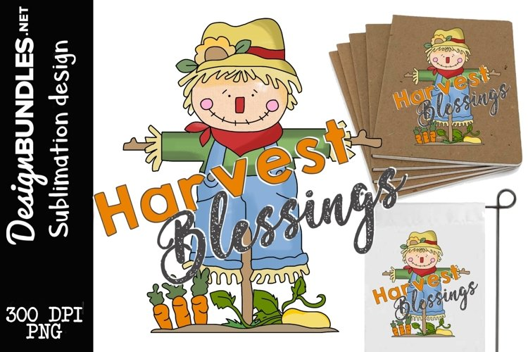 Harvest Blessing Sublimation Design example image 1