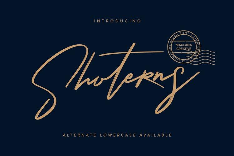 Shoterns Signature Brush Font example image 1