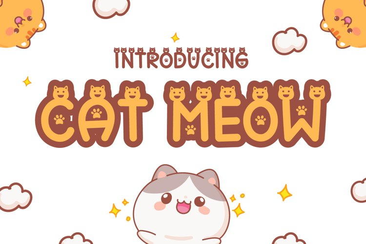 Cat Meow - Cute Display Font example image 1