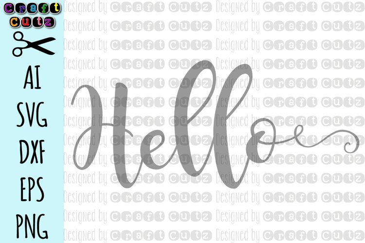 Hello SVG, Front Door SVG, Door Cut File Design