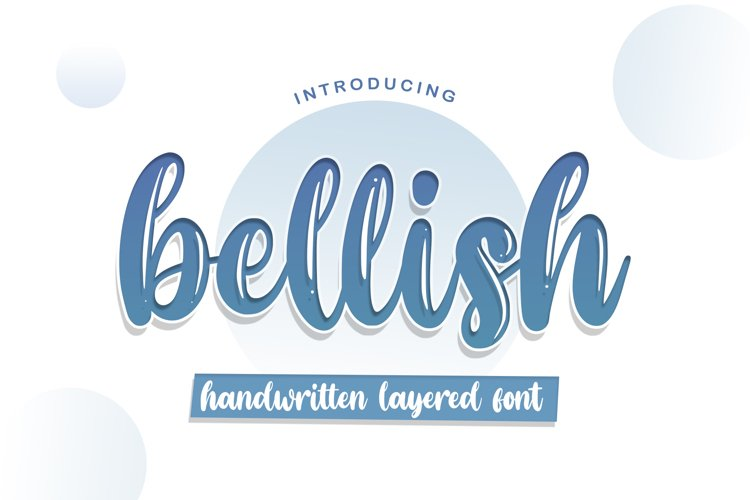 Bellish Layered font example image 1