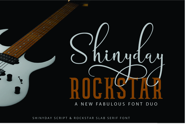 Shinyday & ROCKSTAR font duo - Free Font of The Week Font