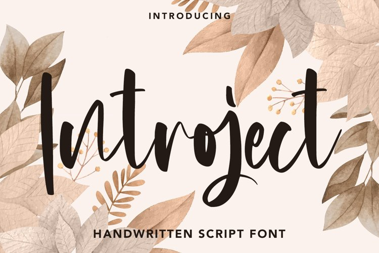 Introject - Script Font