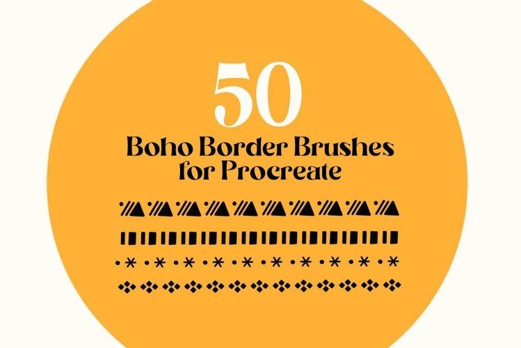 Procreate Brushes | Boho Brushes, Ethnic Border Brushes