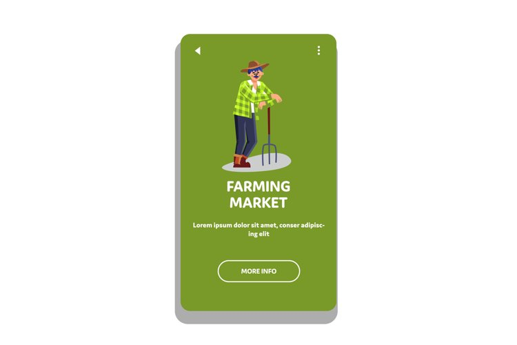 Farming Market Natural Vegetable And Fruit Vector