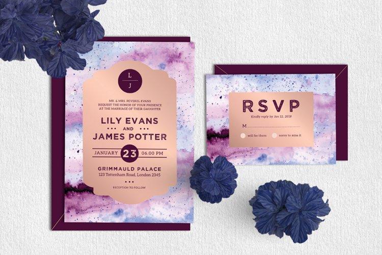 Royal - Wedding Invitation & RSVP example image 1
