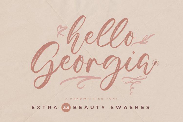 Hello Georgia - A Handwritten Font