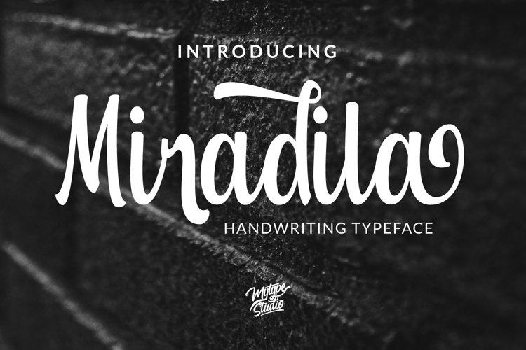 Miradila Handwriting Typeface example image 1