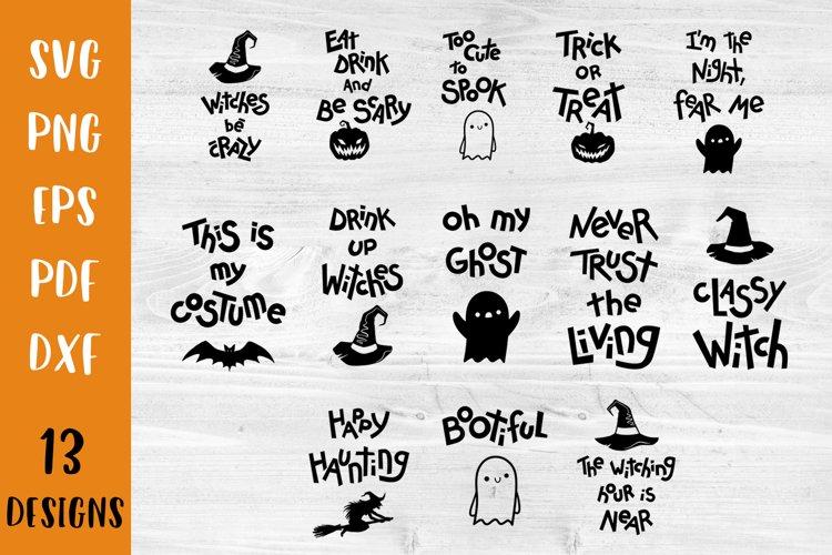 Halloween svg bundle Halloween quotes SVG Halloween bundle example image 1