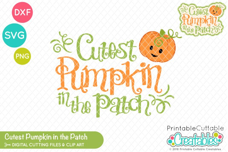 Cutest Pumpkin in the Patch SVG example image 1