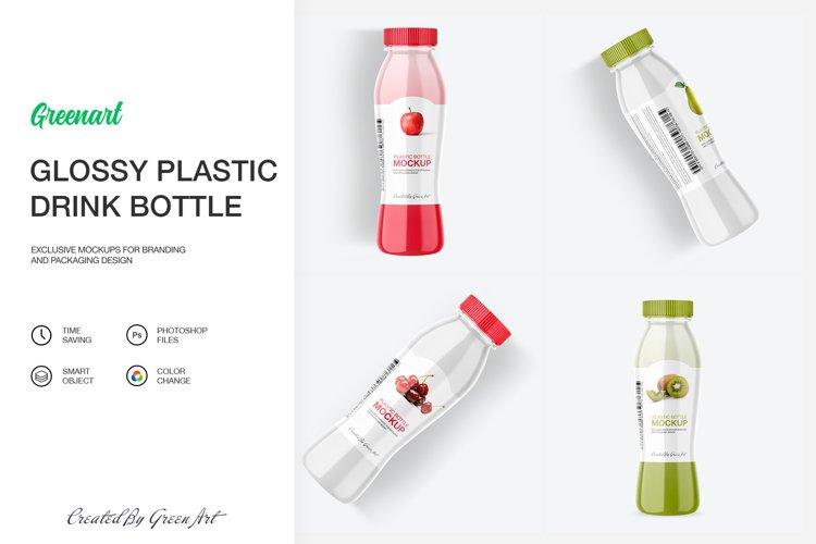 Glossy Plastic Bottle Mockup