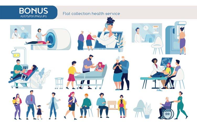 Health Service Scene Vectors example image 1