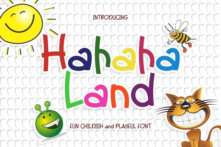 Hahaha Land - Cute Comic Font