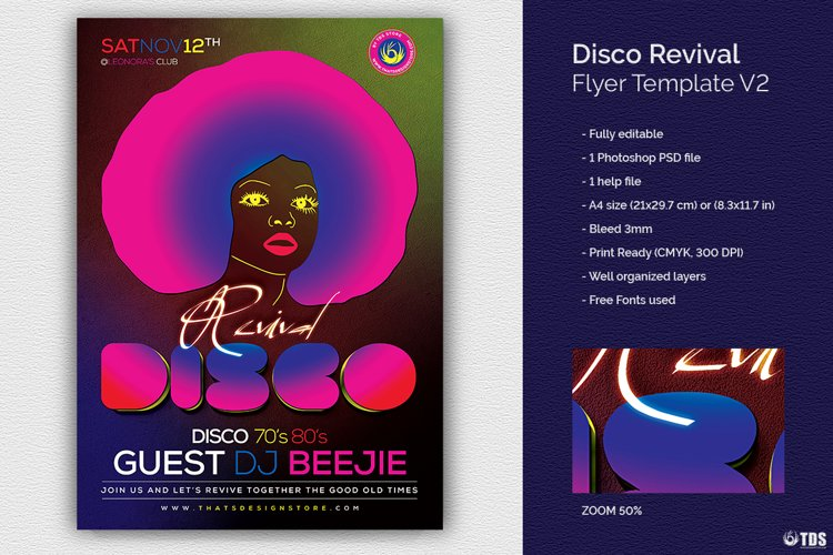 Disco Revival Flyer Template V2