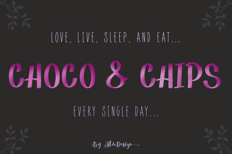 Choco Chips - WEB FONT example image 1