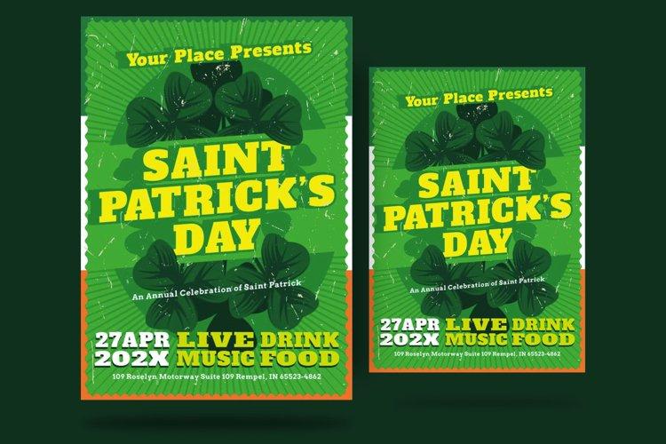 St Patrick Day Shamrock Flyer example image 1