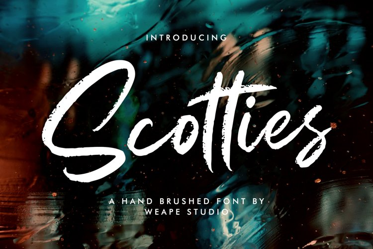Scotties - Hand Brushed Font example image 1