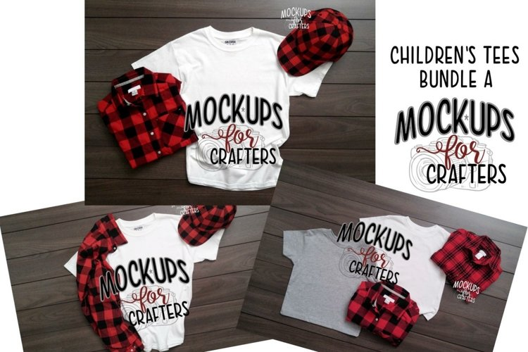 TShirts MOCK-UPS TRIO BUNDLE