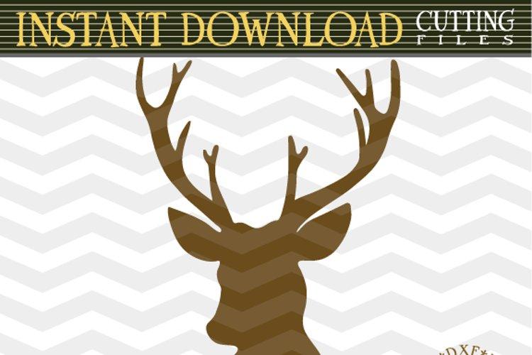 Deer Head SVG - Deer Cut Files SVG - Deer SVG - Cutting File