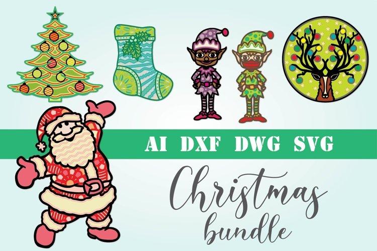 3d mandala Christmas bundle 6 designs example image 1
