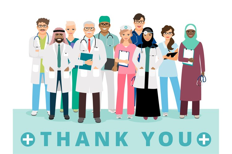 Thanks to medical workers poster example image 1