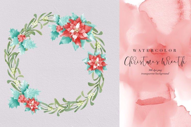 Christmas wreath watercolor, Xmas decor transparent PNG example image 1