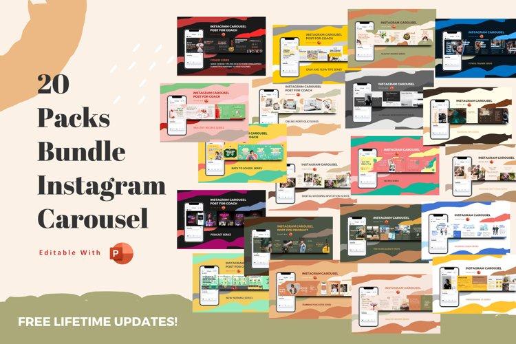 Best deals! 20 Packs bundle instagram carousel powerpoint te example image 1