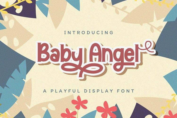 Baby Angel - Playful Display Font example image 1