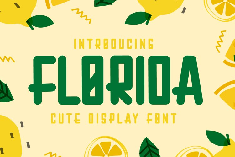 Florida - Cute Display Font example image 1