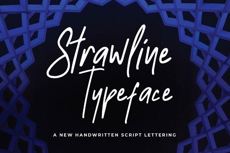 Strawline Typeface example image 1