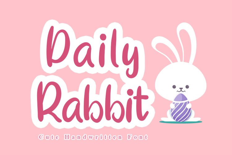 Daily Rabbit - Cute Font example image 1
