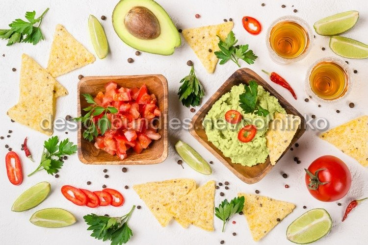 Mexican food party selection