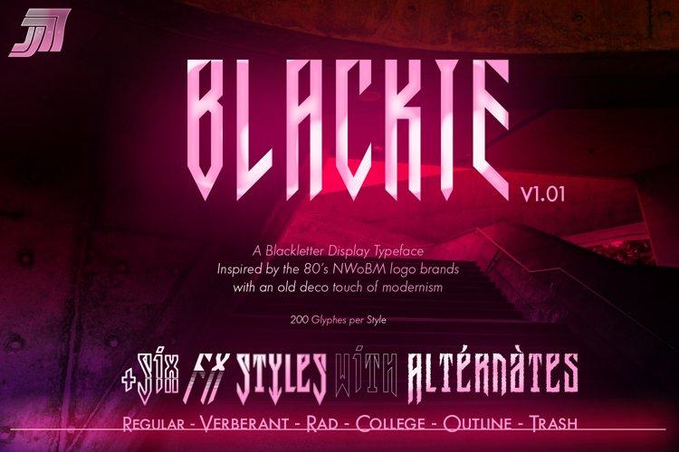JVNE-Blackie Display Font Family Update v1.01 example image 1