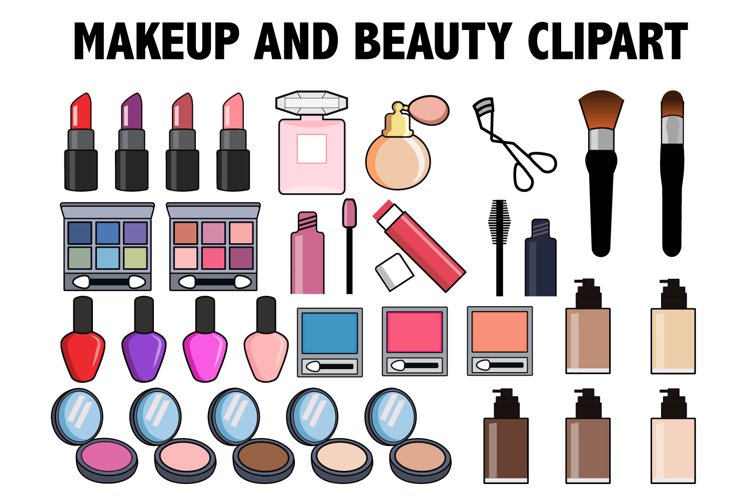Makeup and Beauty Clipart example image 1