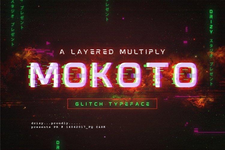 Mokoto Glitch Typeface example image 1