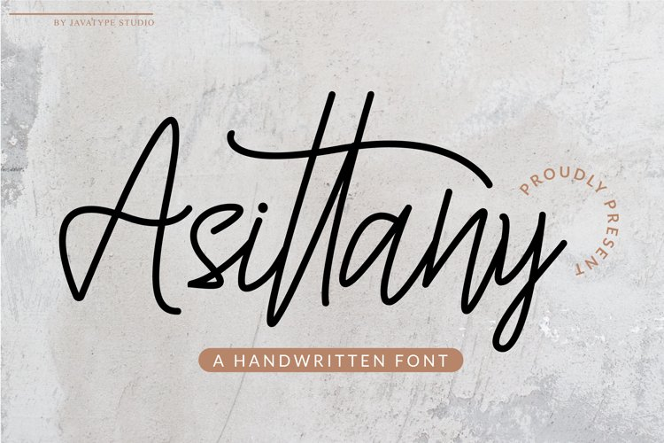Asittany - A Handwritten Font example image 1