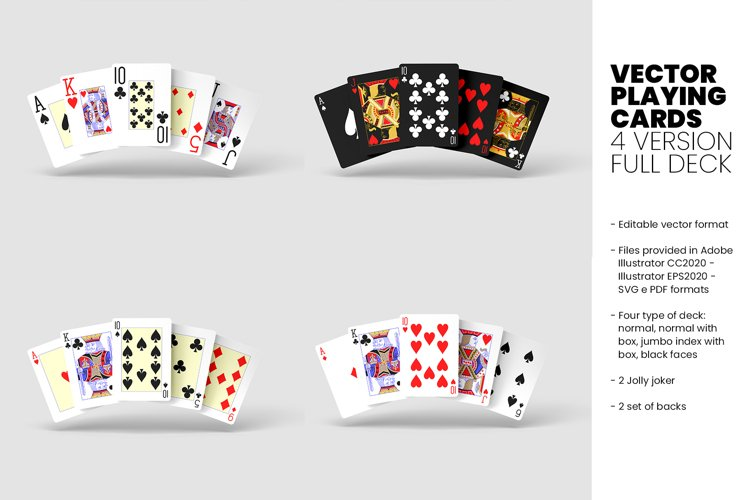 Vector Playing Cards - 4 Version - Full deck