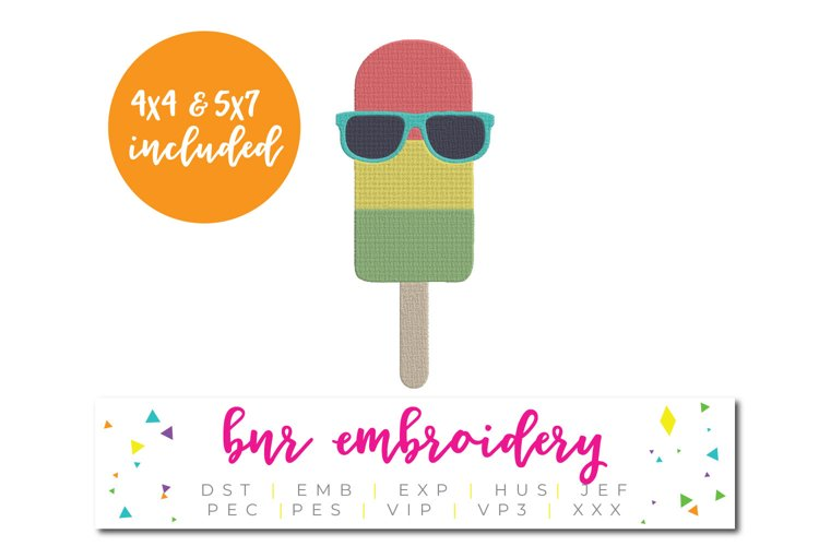 Popsicle Machine Embroidery Design, Summer Embroidery example image 1