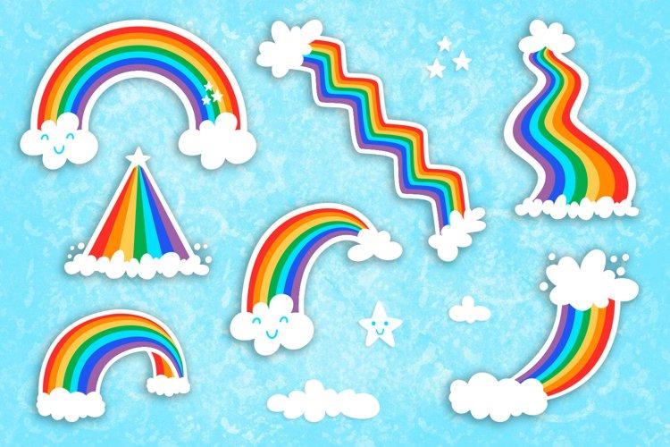 Rainbow Vector Cartoon Cute Clip art