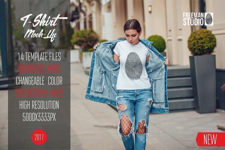 T-Shirt Mock-Up Vol.8 2017 example image 1
