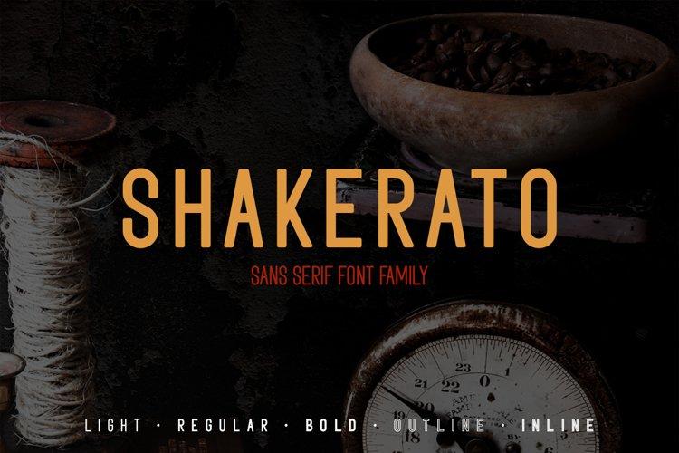 Shakerato - Sans Serif Family Font example image 1