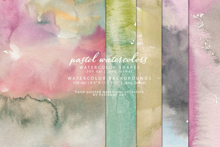Watercolor Shapes Clipart Splashes Watercolor Backgrounds