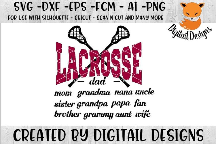 Lacrosse SVG - Silhouette - Cricut - Scan N Cut