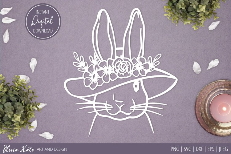 SVG / PNG / DXF / JPEG / EPS Easter Bunny Hat Design